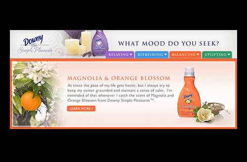Screenshot showing the Balancing tab and the Magnolia & Orange Blossom Downy Simple Pleasures