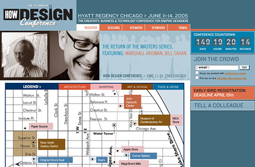 Screenshot of the 2005 interactive map of Chicago