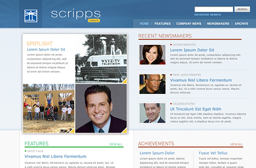 Screenshot of the Scripps eNews homepage